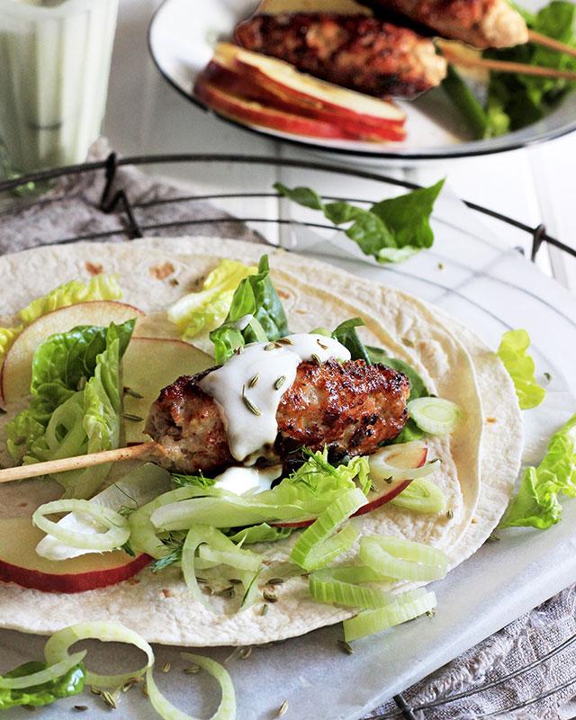 Pork mince kebab