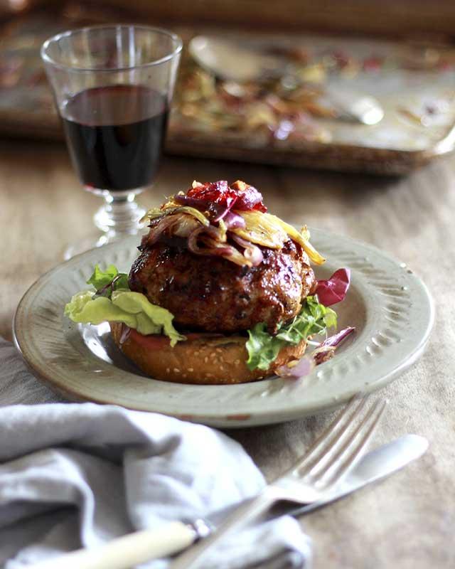 pork and fennel burger