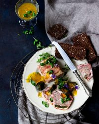 Pork and green fig terrine